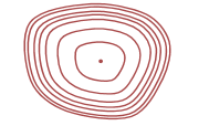 image of contours for a Convex slope