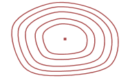 image of contour lines example for a hill